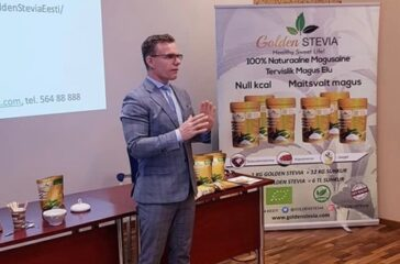 Veiko Huuse presentation of Golden Stevia at Estonia