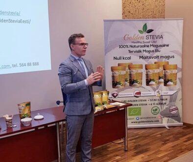 Veiko Huuse presentation of Golden Stevia at Estonia