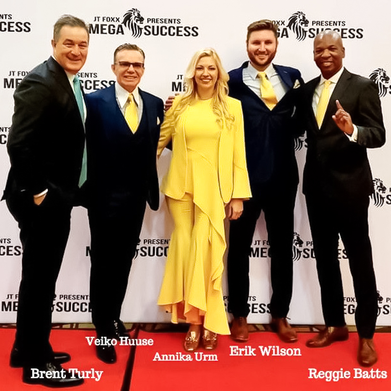 Veiko Huuse's coaches Reggie Batts, Brent Turly and Erik Wilson are Veiko's coaches. These men have helped thousands of people become millionaires. They train in business, sales, advertising, branding, speaking, leadership.