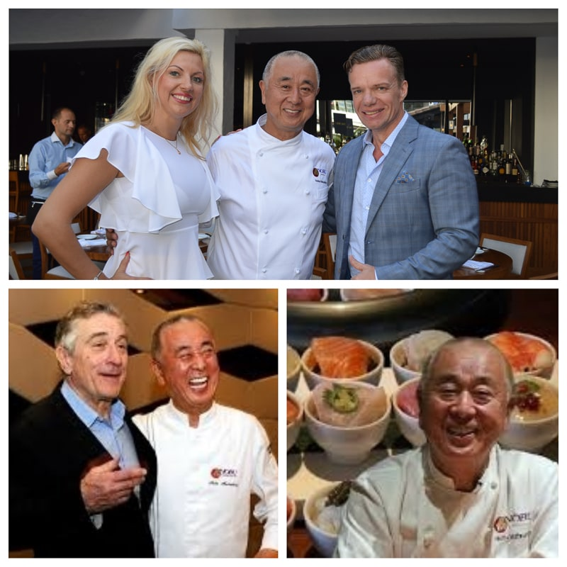 "Chef Nobu Nobuyuki ""Nobu"" Matsuhisa is a Japanese celebrity chef and restaurateur known for his fusion cuisine blending traditional Japanese dishes with Peruvian ingredients. Robert de Niro and Chef Nobu are business partners."