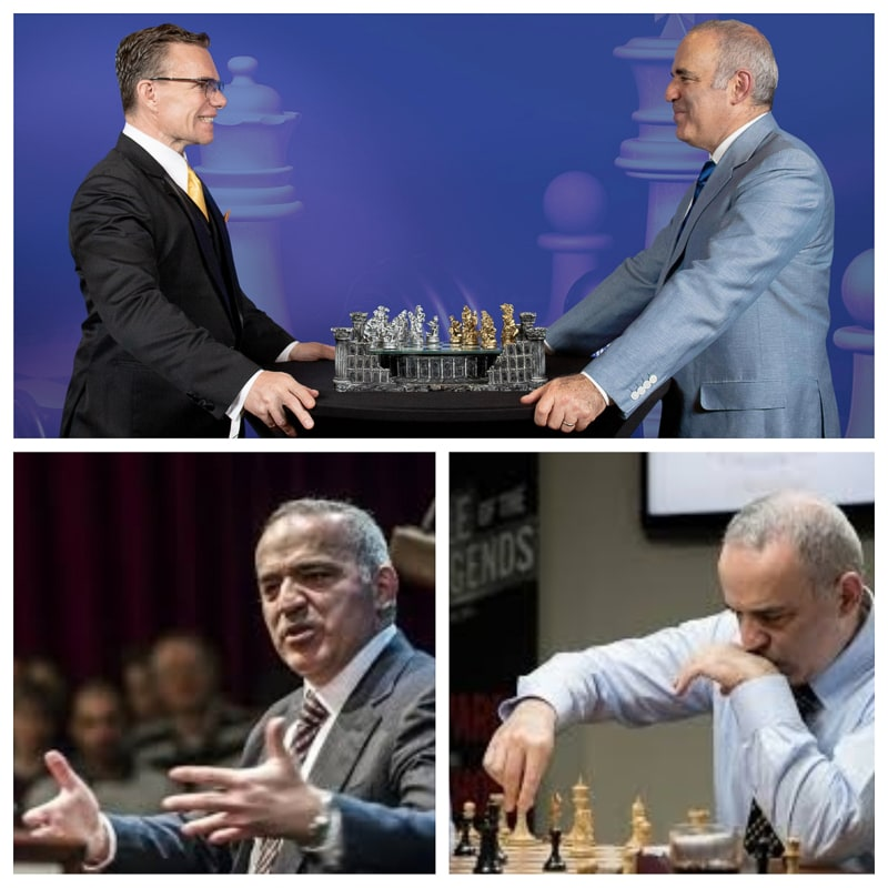 Garry Kasparov Garry Kimovich Kasparov is a Russian chess grandmaster, former world chess champion, writer, and political activist, whom many consider to be the greatest chess player of all time.