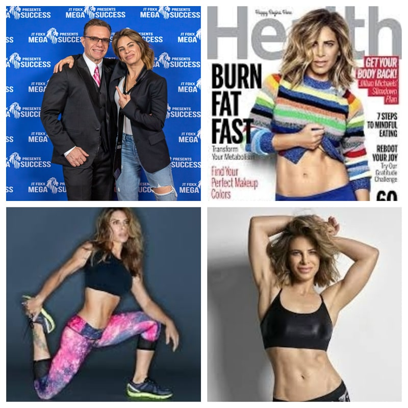 Jillian Michaels Famous American personal trainer, businesswoman, author and television personality from Los Angeles, California. Michaels is best known for her appearances on NBC, particularly The Biggest Loser.