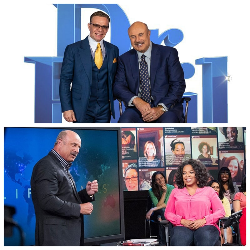 Dr. Phil World-famous Dr. Phil. Dr. Phillip C. McGraw's has original TV show 25 years and talking there about experience in psychology, sociology and human behavior. Beginning his TV career as the resident expert on human behavior on Oprah Winfrey's daily talk show.